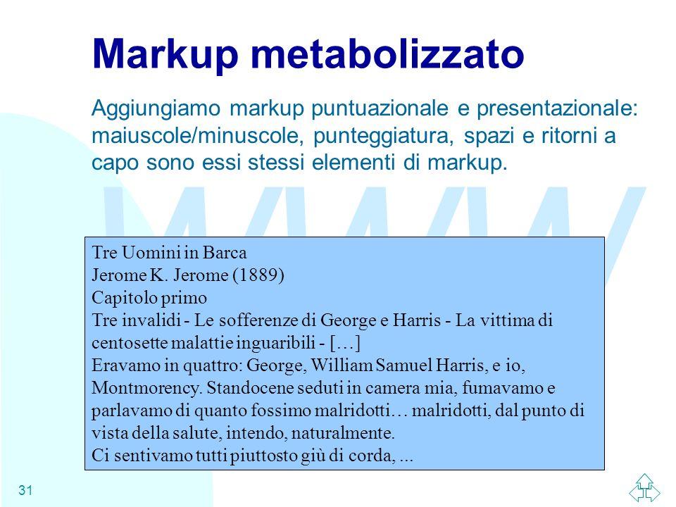 Markup metabolizzato