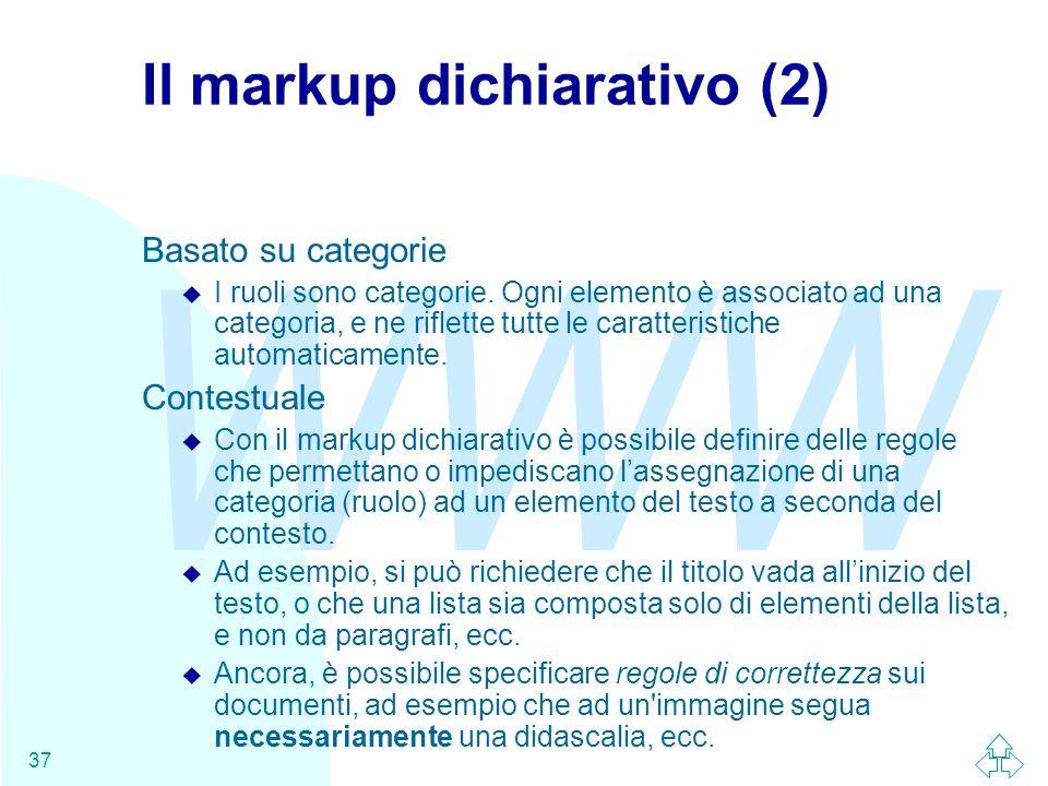 Il markup dichiarativo (2)