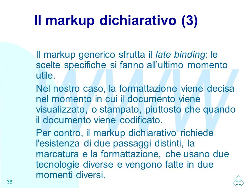 Il markup dichiarativo (3)
