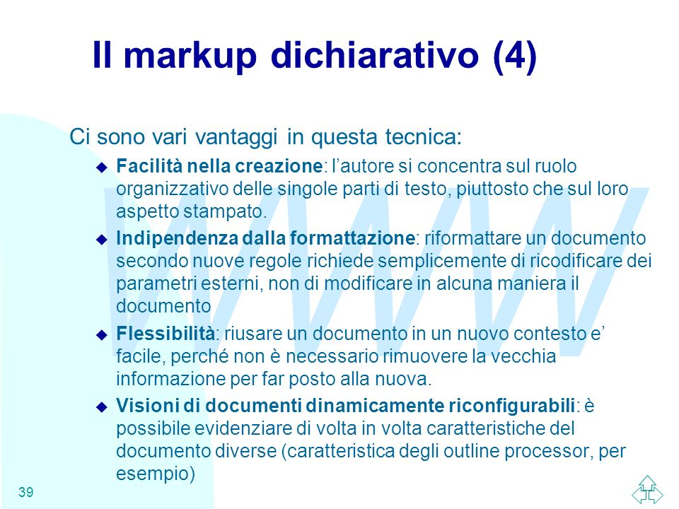 Il markup dichiarativo (4)