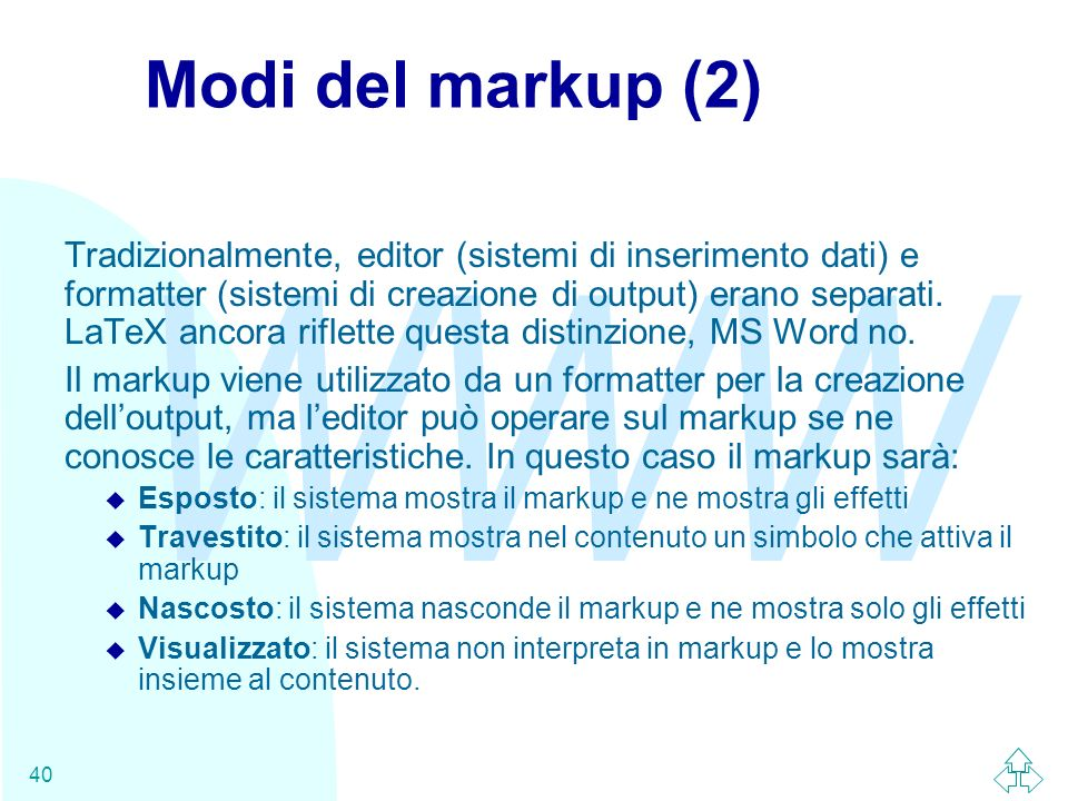Modi del markup (2)