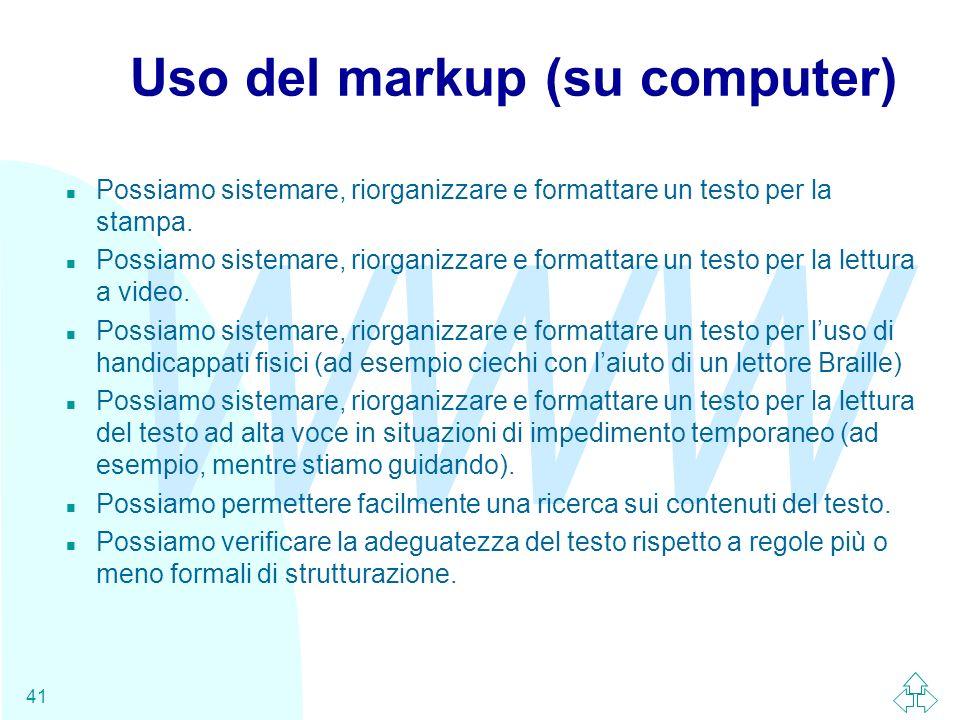 Uso del markup (su computer)