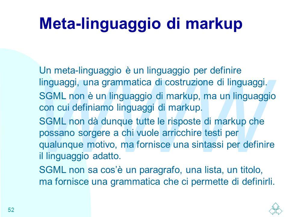 Meta-linguaggio di markup