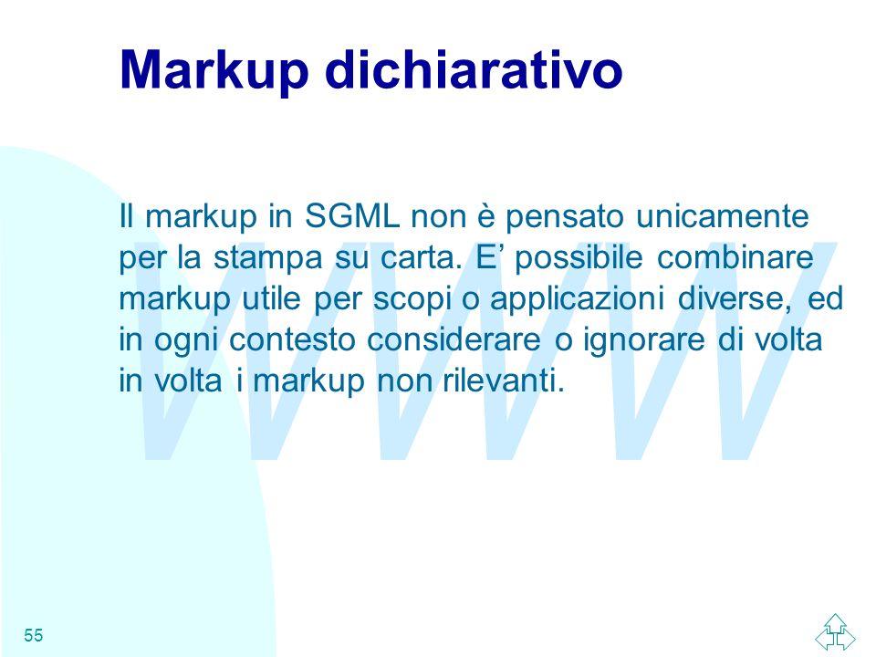 Markup dichiarativo