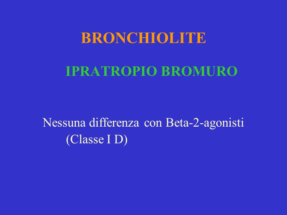 Nessuna differenza con Beta-2-agonisti