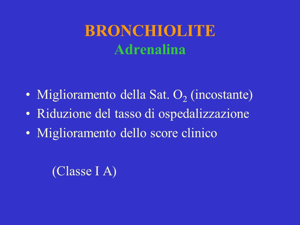 BRONCHIOLITE Adrenalina