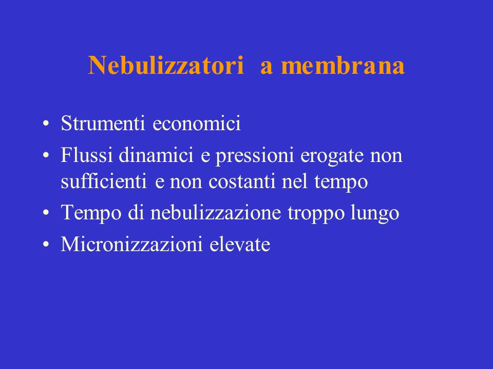 Nebulizzatori a membrana