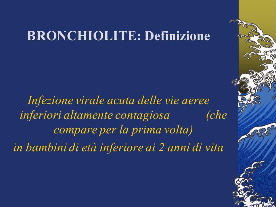 BRONCHIOLITE: Definizione