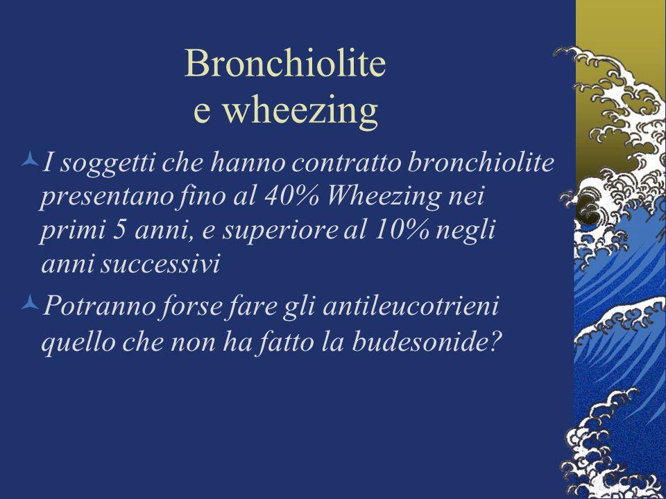 Bronchiolite e wheezing