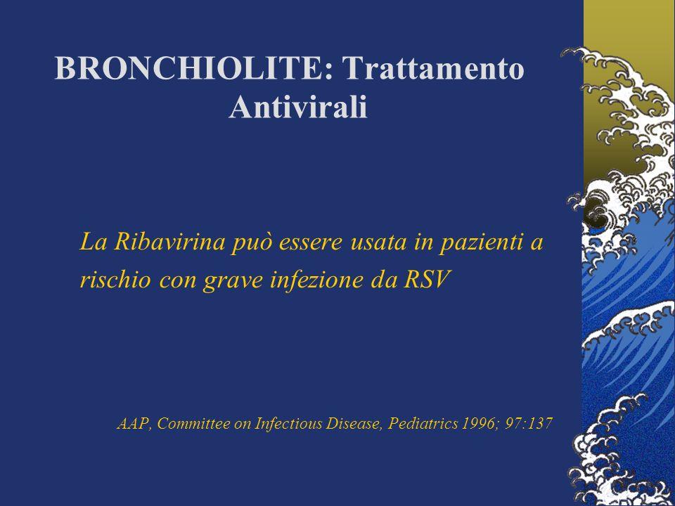 BRONCHIOLITE: Trattamento Antivirali