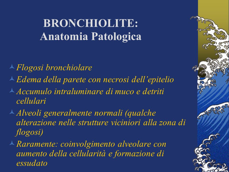 BRONCHIOLITE: Anatomia Patologica