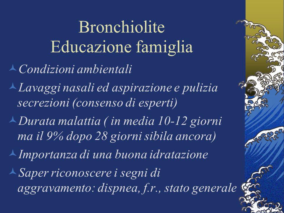 Bronchiolite Educazione famiglia