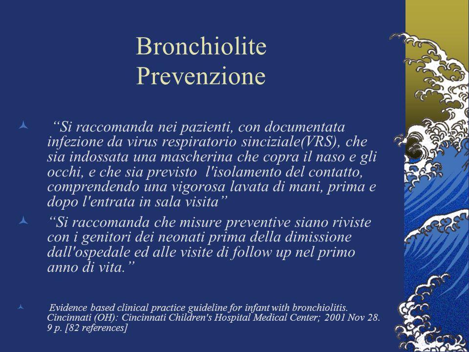 Bronchiolite Prevenzione