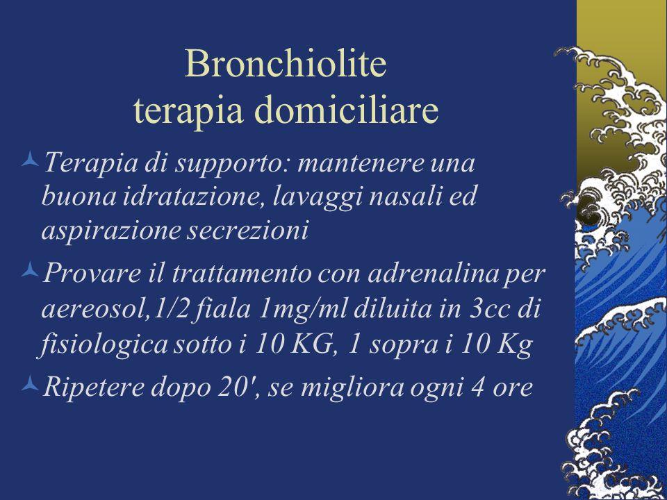 Bronchiolite terapia domiciliare