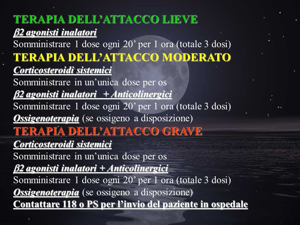 TERAPIA DELL'ATTACCO LIEVE