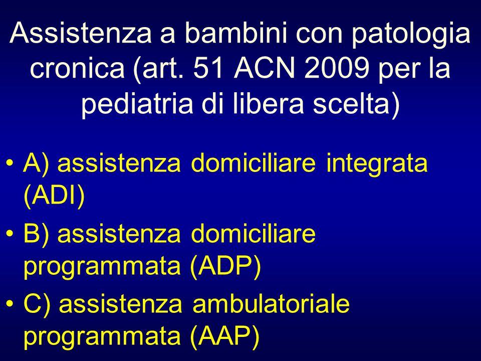 Assistenza a bambini con patologia cronica (art