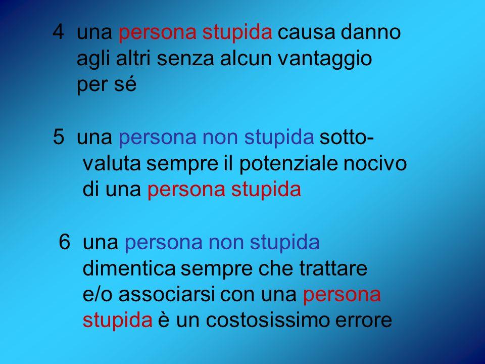 4 una persona stupida causa danno