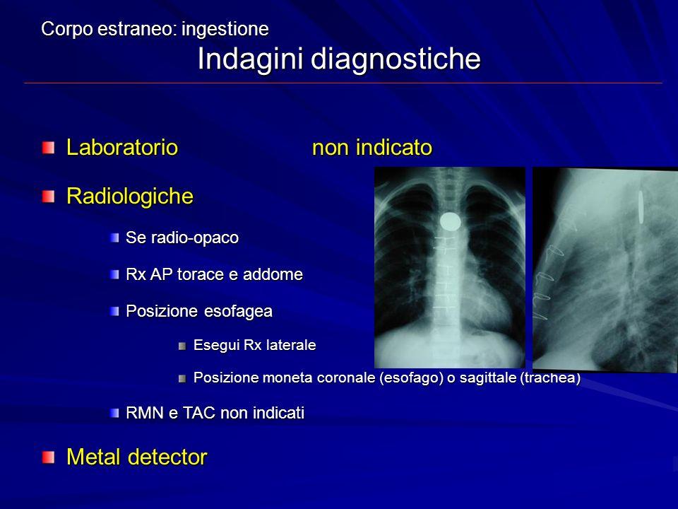 Laboratorio non indicato Radiologiche