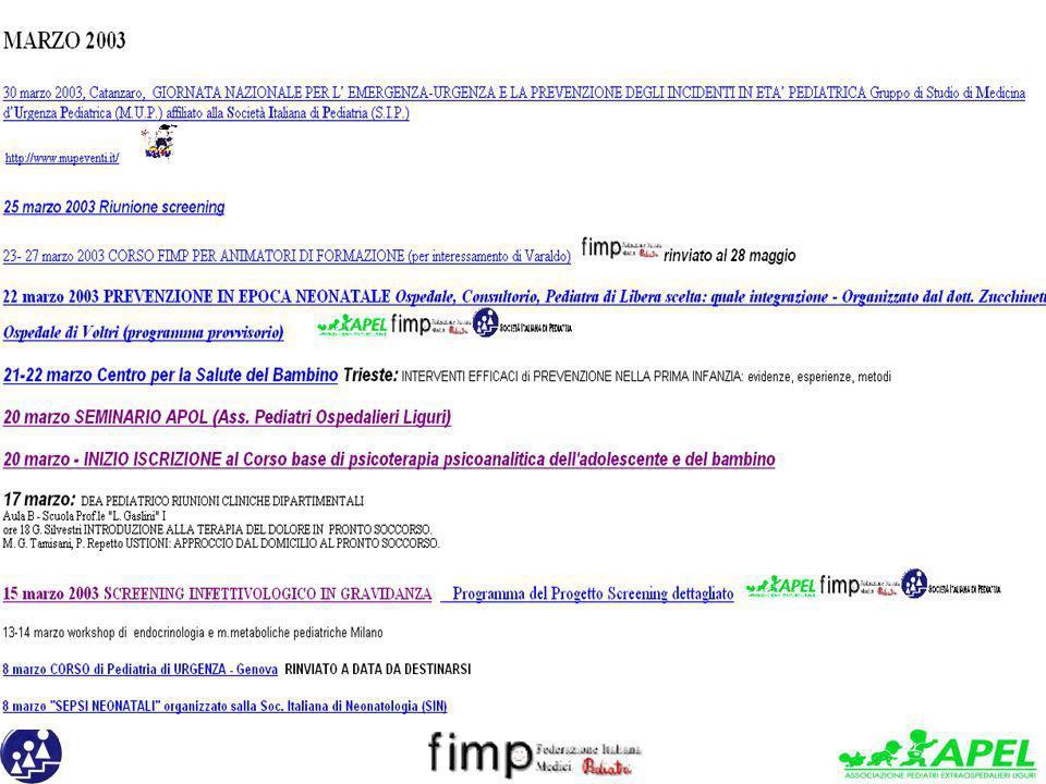 20 marzo SEMINARIO APOL (Ass. Pediatri Ospedalieri Liguri)
