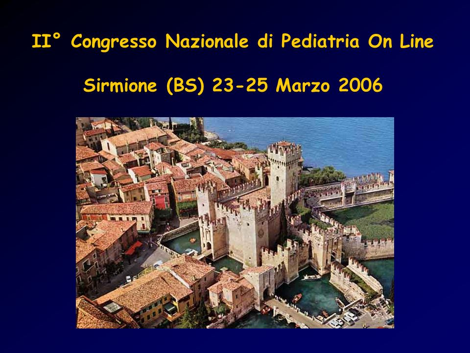 II° Congresso Nazionale di Pediatria On Line