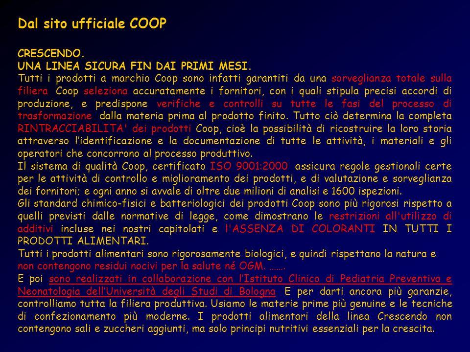 Dal sito ufficiale COOP