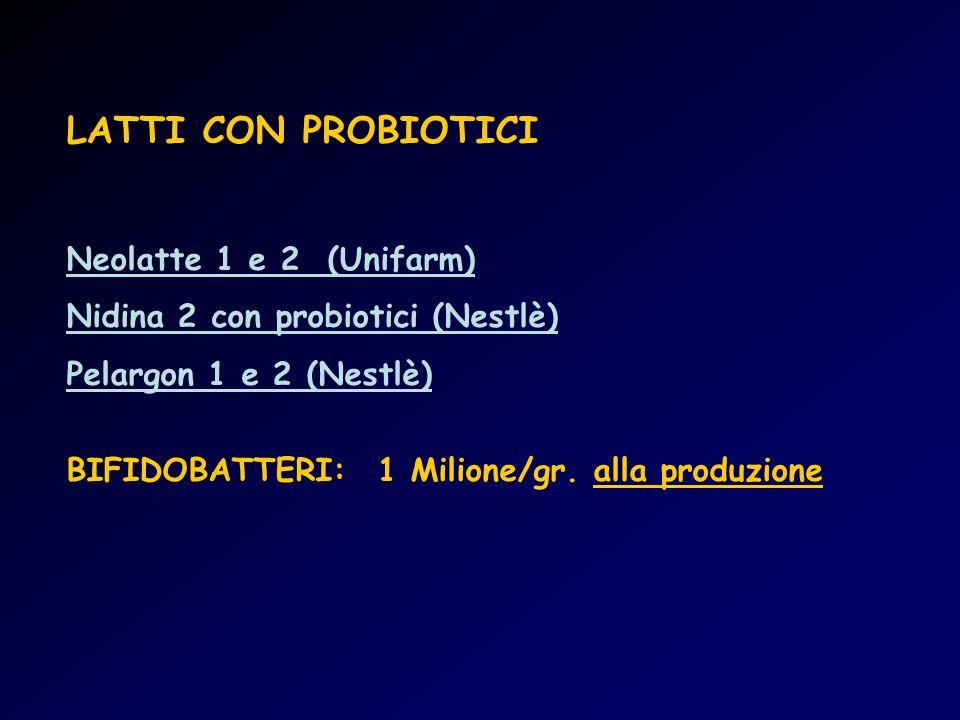 LATTI CON PROBIOTICI Neolatte 1 e 2 (Unifarm)