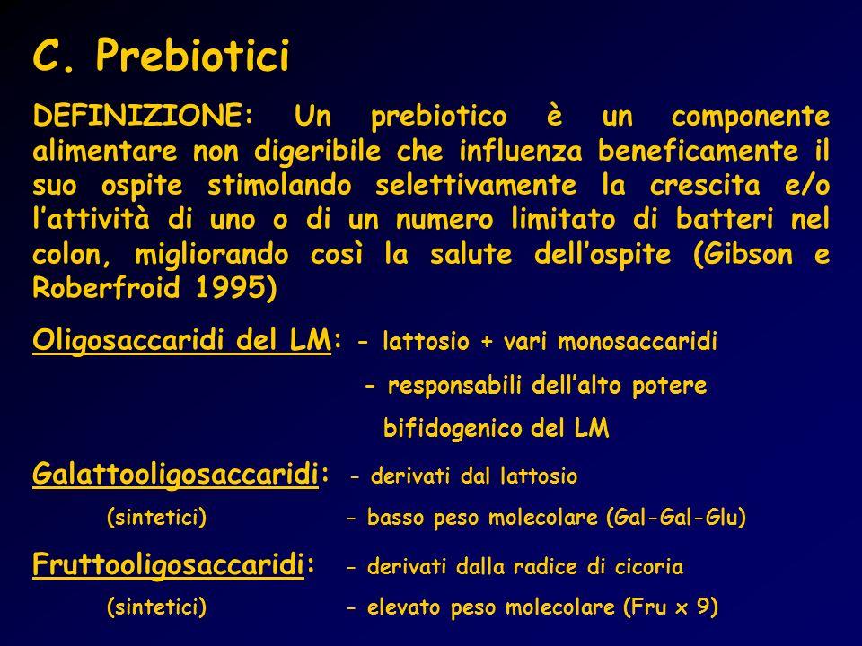 C. Prebiotici