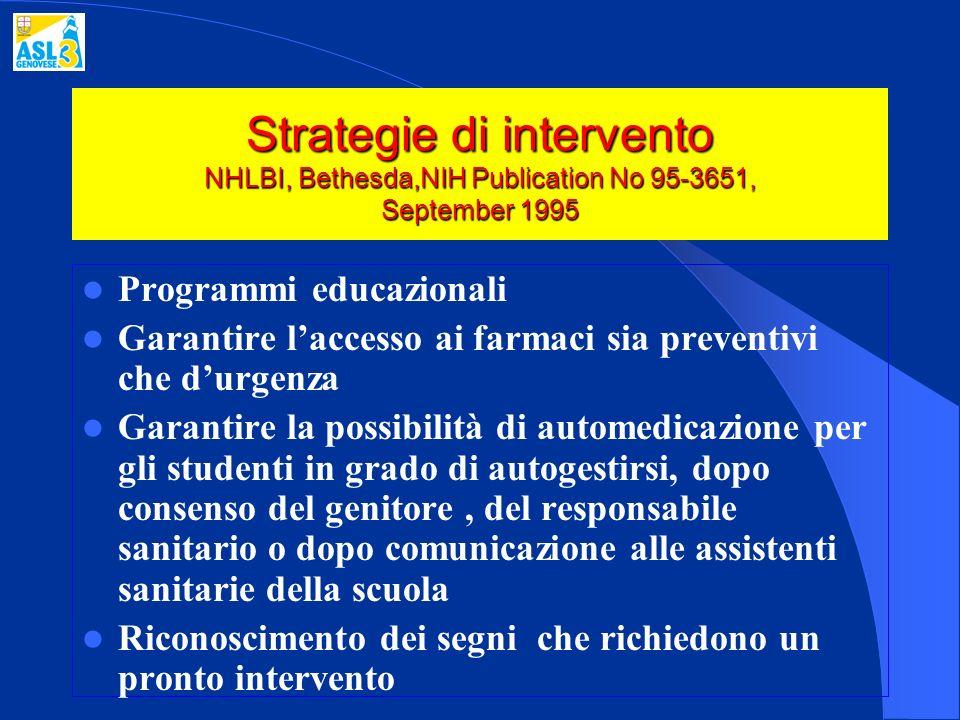 Strategie di intervento NHLBI, Bethesda,NIH Publication No 95-3651, September 1995