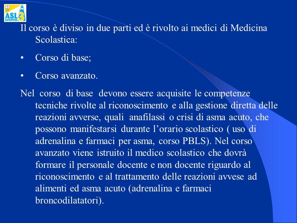 Il corso è diviso in due parti ed è rivolto ai medici di Medicina Scolastica: