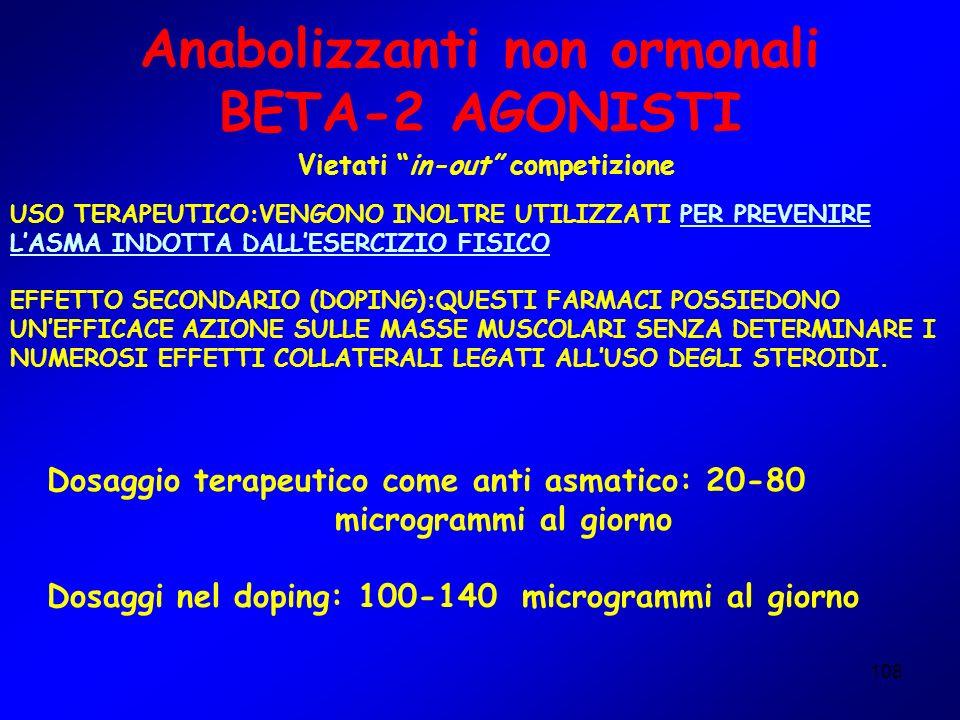 Anabolizzanti non ormonali BETA-2 AGONISTI