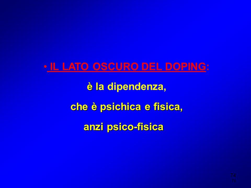 IL LATO OSCURO DEL DOPING: