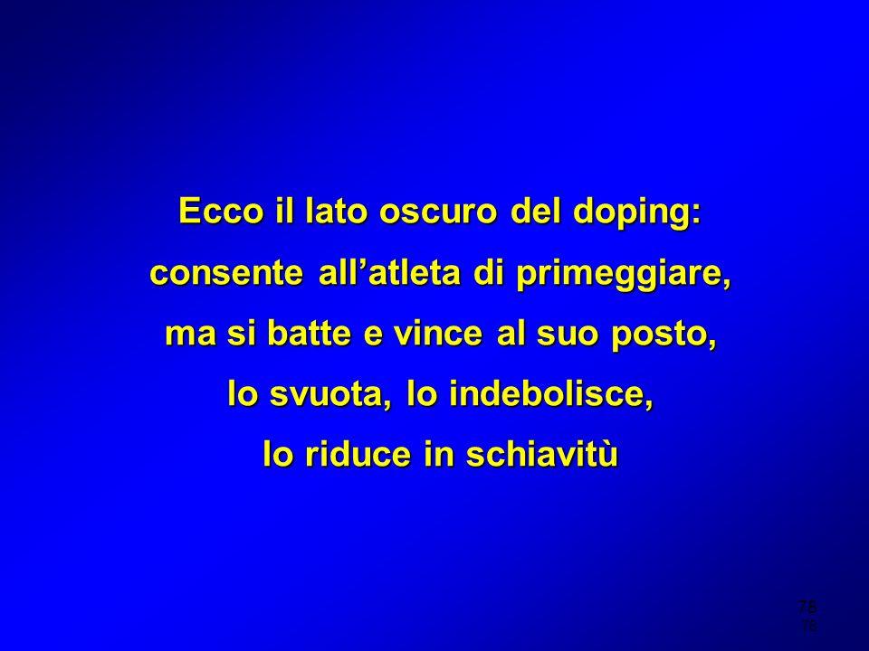 Ecco il lato oscuro del doping: consente all'atleta di primeggiare,