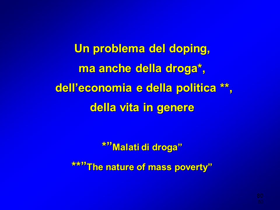 dell'economia e della politica **, ** The nature of mass poverty