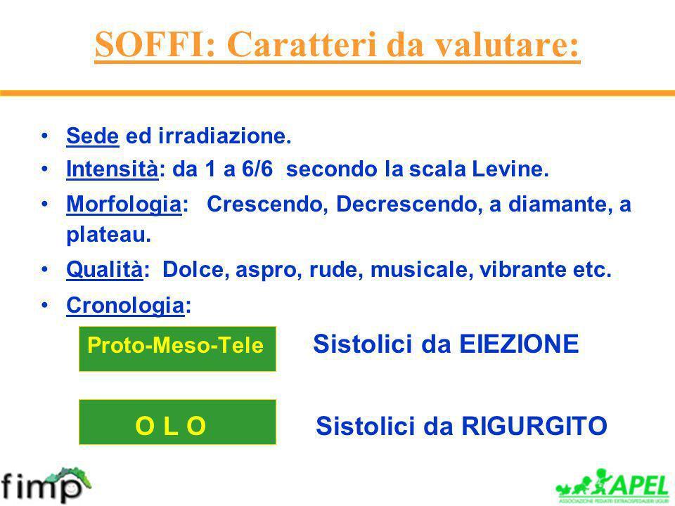 SOFFI: Caratteri da valutare: