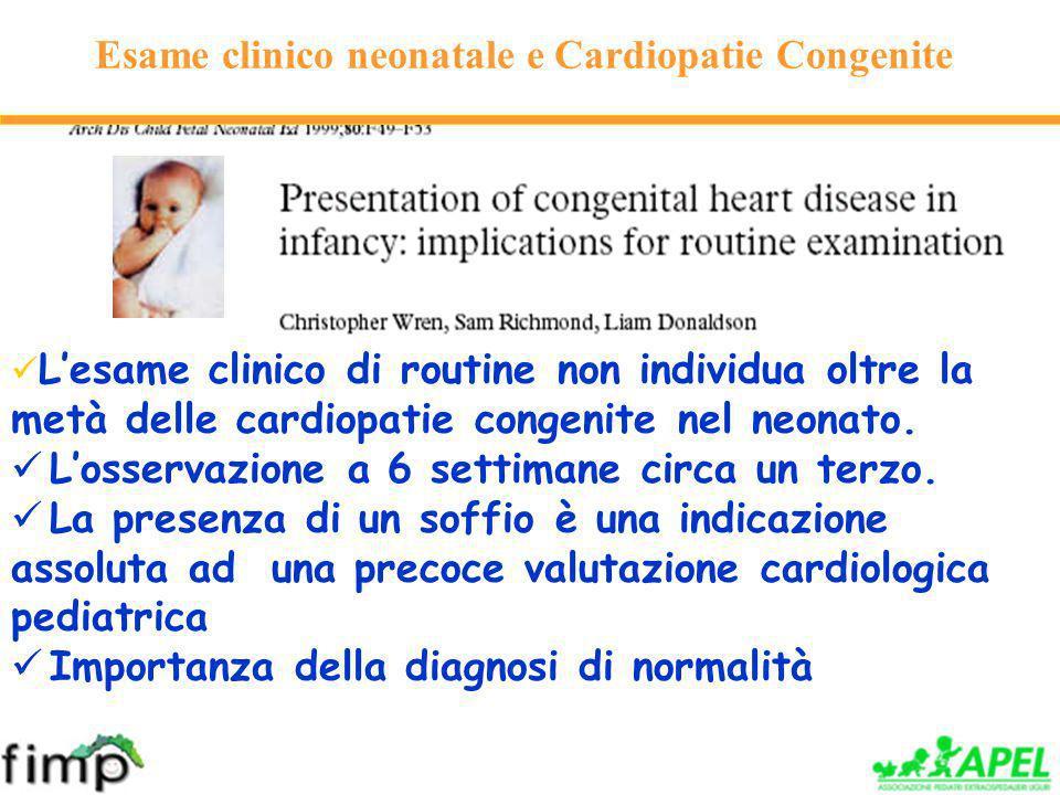 Esame clinico neonatale e Cardiopatie Congenite