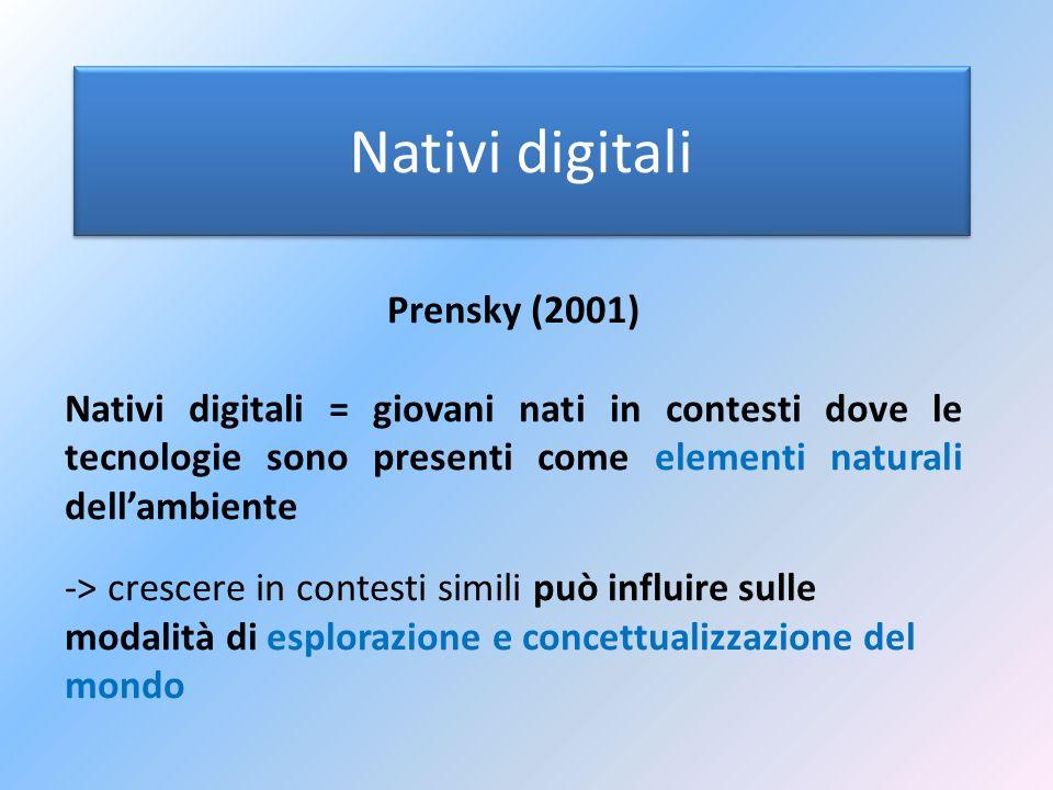 Nativi digitali Prensky (2001)