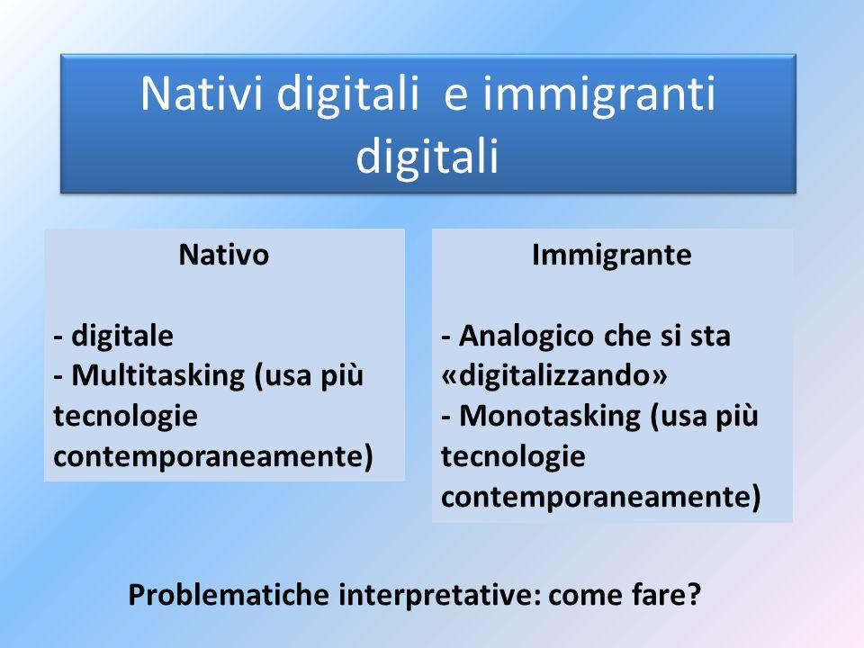 Nativi digitali e immigranti digitali