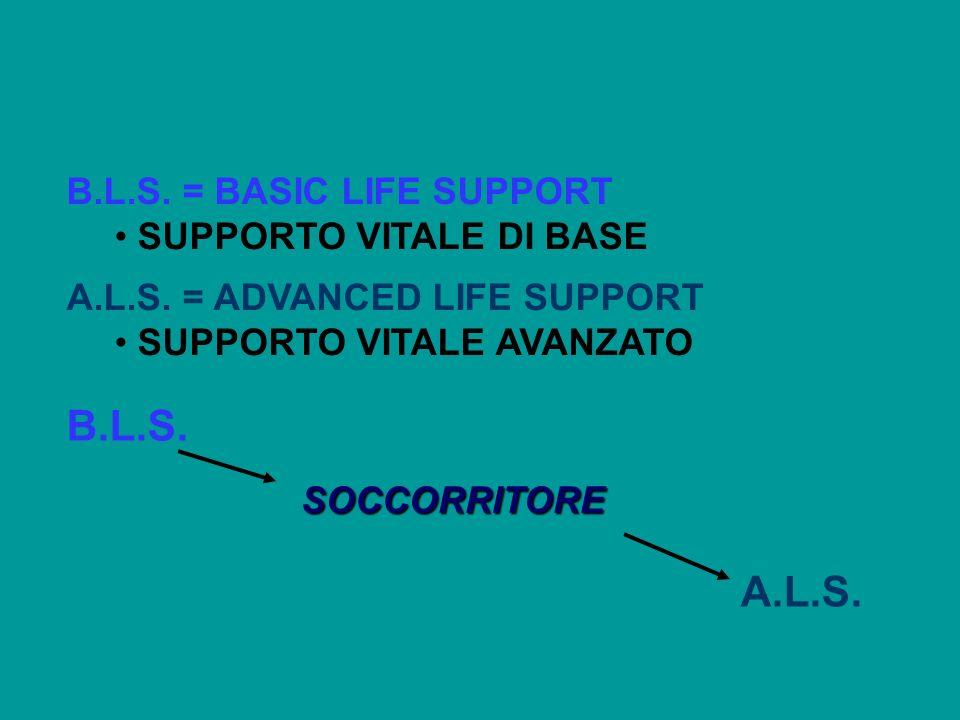 B.L.S. A.L.S. B.L.S. = BASIC LIFE SUPPORT SUPPORTO VITALE DI BASE