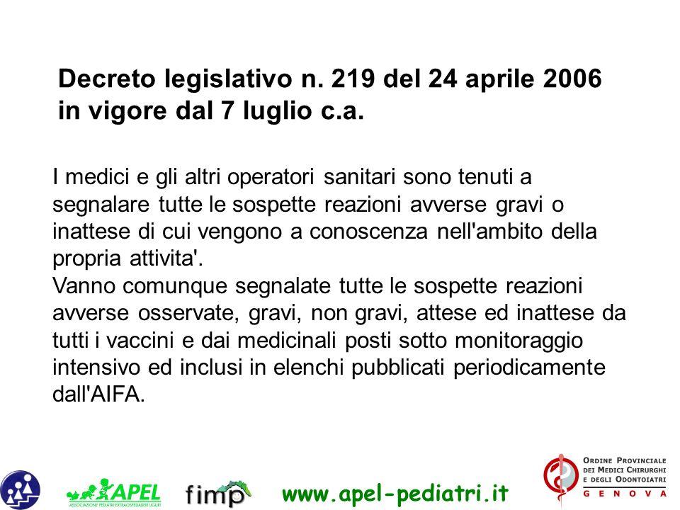 Decreto legislativo n. 219 del 24 aprile 2006