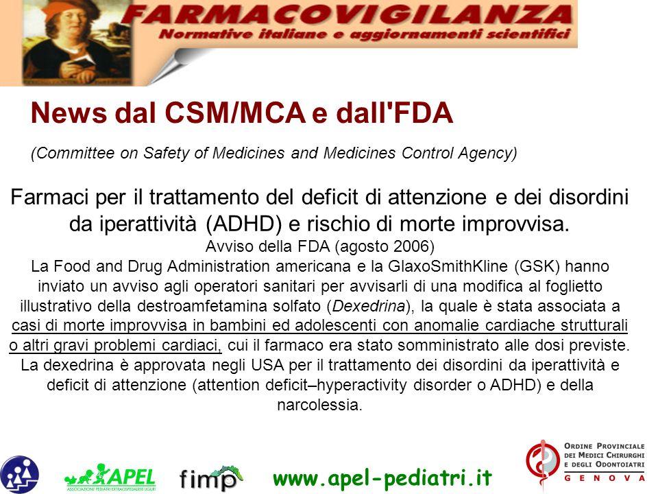 Avviso della FDA (agosto 2006)
