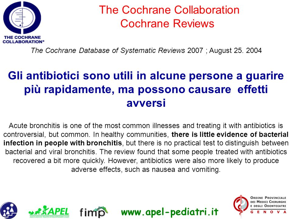 The Cochrane Collaboration Cochrane Reviews