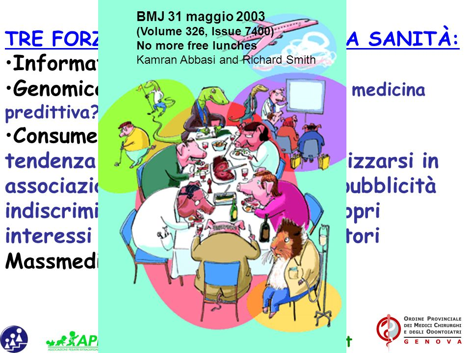 Genomica: da medicina preventiva a medicina predittiva Consumerismo: