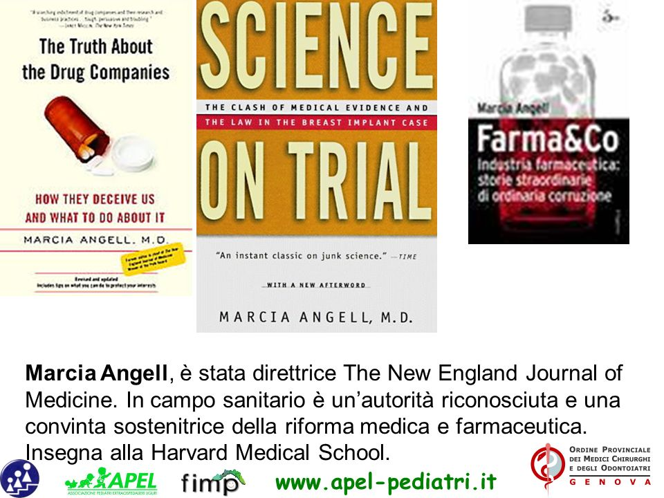 Marcia Angell, è stata direttrice The New England Journal of Medicine