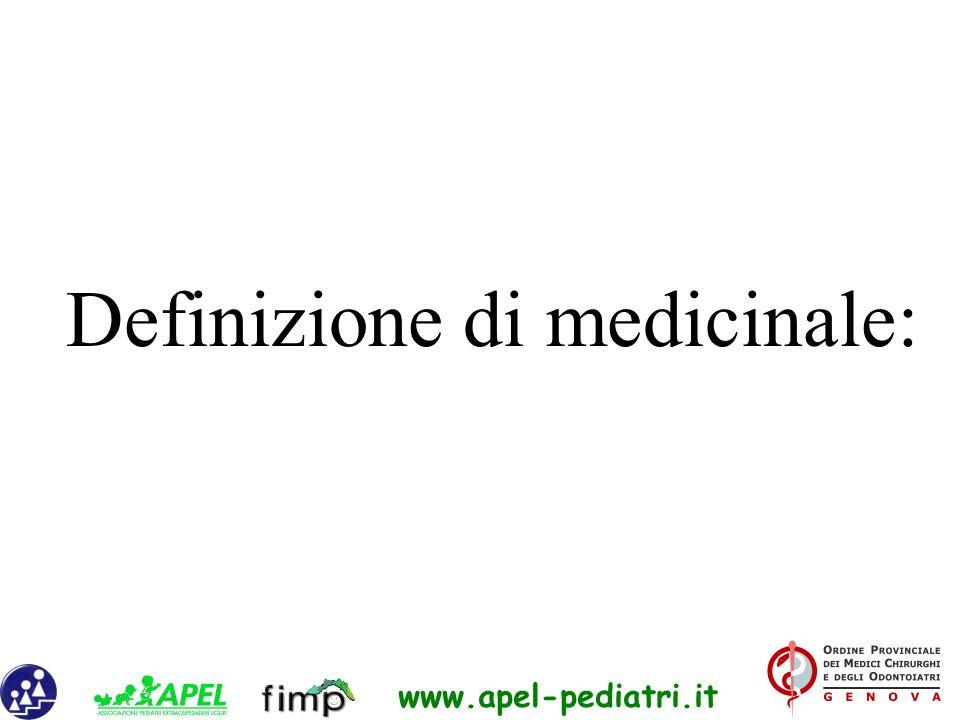 Definizione di medicinale: