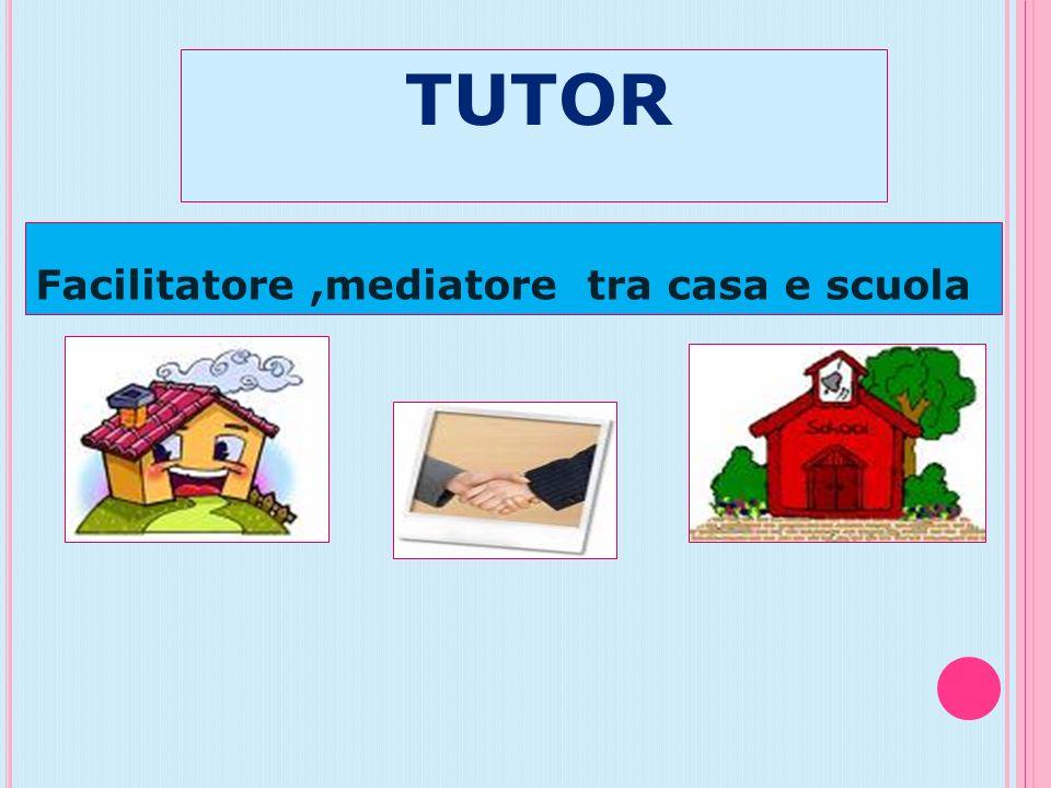 TUTOR Facilitatore ,mediatore tra casa e scuola