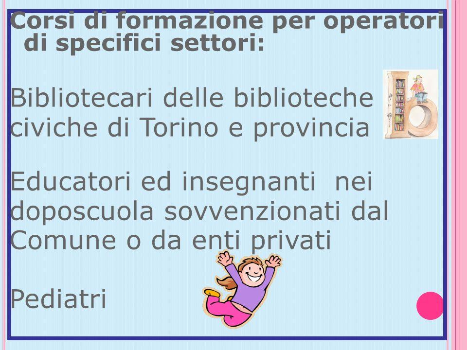 Bibliotecari delle biblioteche civiche di Torino e provincia