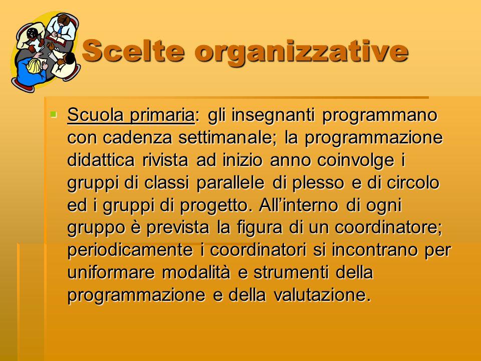 Scelte organizzative