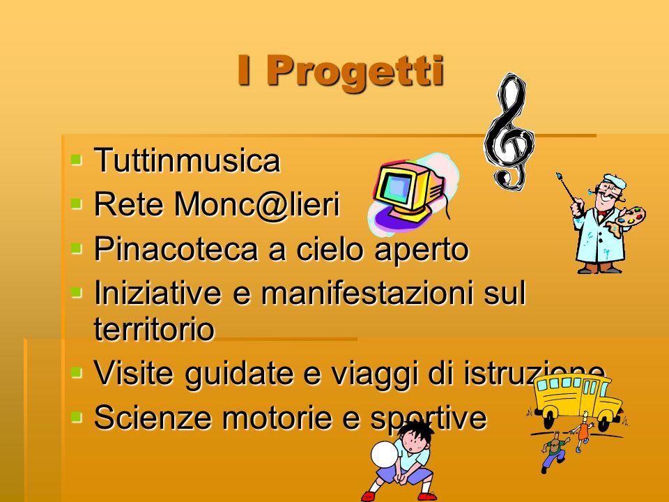 I Progetti Tuttinmusica Rete Monc@lieri Pinacoteca a cielo aperto