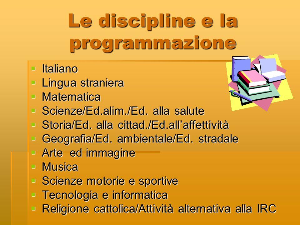 Le discipline e la programmazione