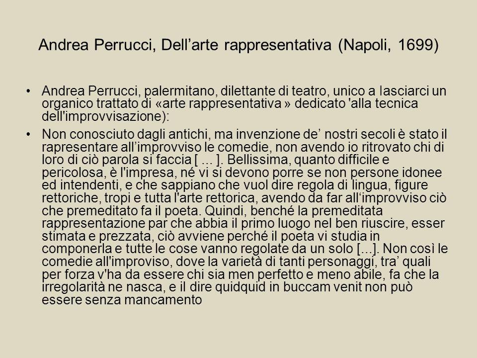 Andrea Perrucci, Dell'arte rappresentativa (Napoli, 1699)